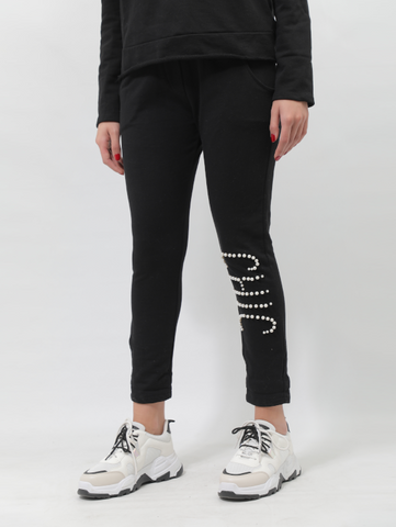 CHIC Cotton Sweatpants In Black