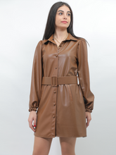 Load image into Gallery viewer, Leather Smart Casual Dress