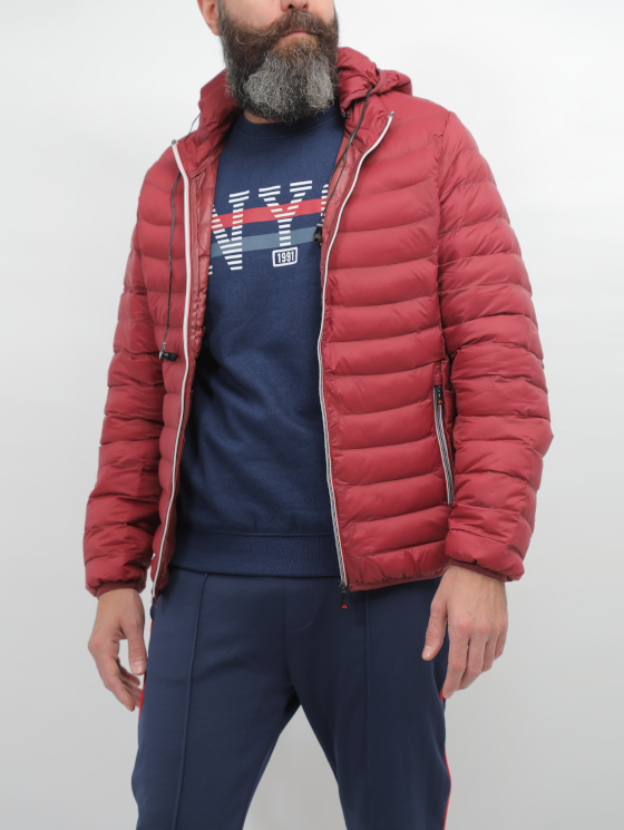 Crom Bordeaux Quilted Jacket