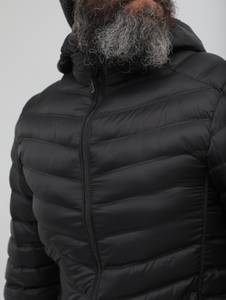 Crom Black Quilted Light Jacket