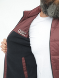 Octave Double Faced Vest In Navy-Wine
