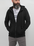 Crom Basic Hoodie With Zipper In Black