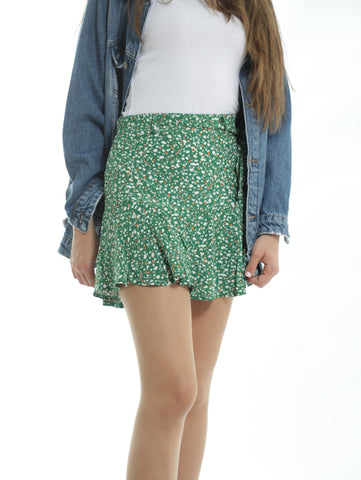 Mini Skirt With Micro Print All-over