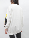 Over-sized Designed Pullover In White