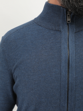 Load image into Gallery viewer, Regular Zipped Sweater In Navy