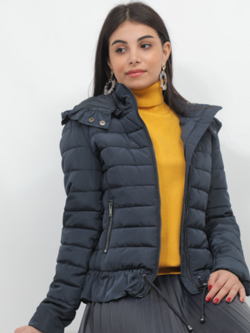 Kocca Quilted Navy Jacket