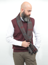Load image into Gallery viewer, Moustache Burgundy Sweater Vest
