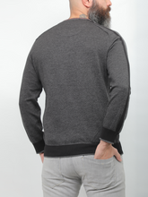 Load image into Gallery viewer, Gianno Ricci Contrast Side Black Sweater