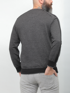 Gianno Ricci Contrast Side Black Sweater