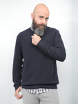 Gianno Ricci Knitted Sweater In Navy