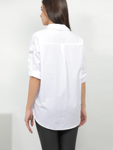 Load image into Gallery viewer, Embroidered Design Shirt In White
