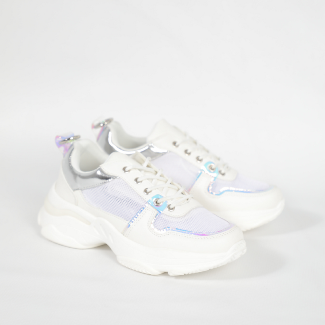 Rouge Rose White With Silver Accents Sneaker