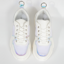 Load image into Gallery viewer, Rouge Rose White With Silver Accents Sneaker