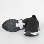 Rouge Rose Lexa Cotton Running Shoes In Black