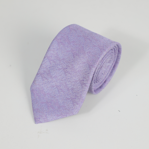 Purple Tie With Micro Pattern Design