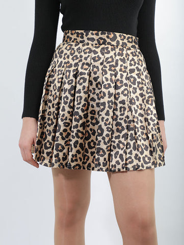Leopard Short Skirt