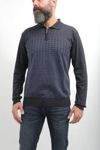 Designed Polo Sweater