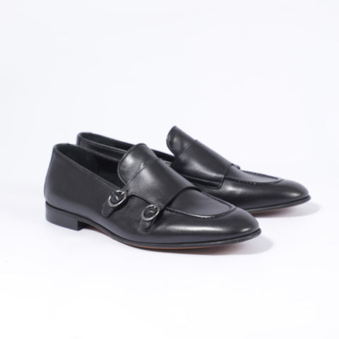 Gianno Ricci Doubled Straps Monk Loafer