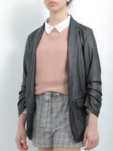 Load image into Gallery viewer, Hailys Leather Blazer