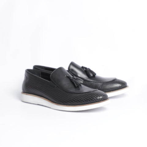 Gianno Ricci Smart Casual Pierced Loafer With Tassels