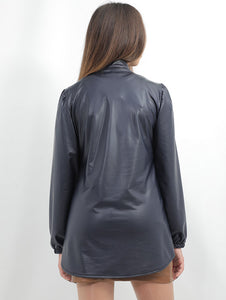 Tunic Leather Shirt