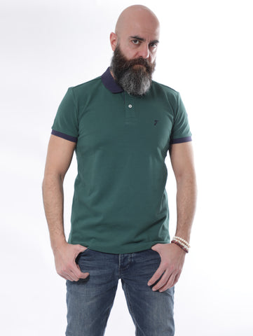 Jack Dapper Designed Polo With Contrast Collar And Trims In Green