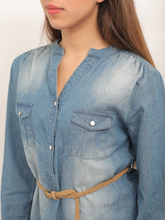 Load image into Gallery viewer, Hailys Denim Blouse Shirt