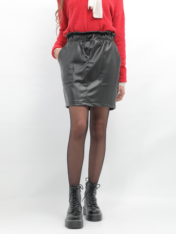 Short Leather Skirt