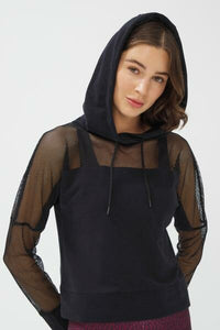 Penti Fishnet Detailed Hoodie