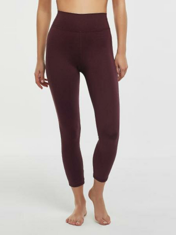 Penti Bordeaux High Rise Stretchy Crop Leggings