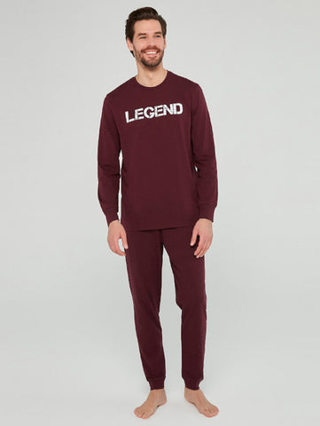 Penti Burgundy Legend Pajamas Set