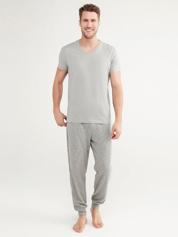 Penti Multi Colored Gray V-Collar Trouser Set