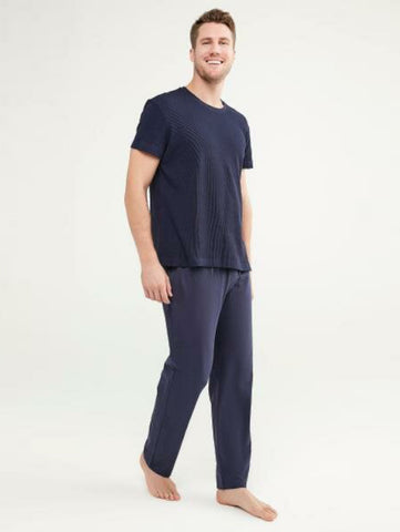 Penti Dark Indigo Deep Ocean Crew Neck SS Trouser Set