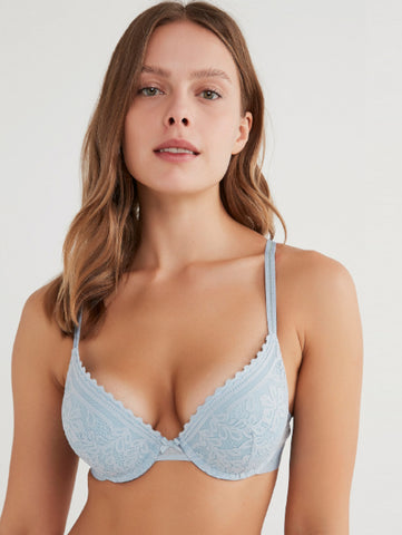 Penti Light Blue Intense Extra Push Up Banded Bra