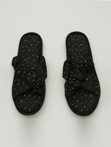 Penti Black Dark Satin Slippers