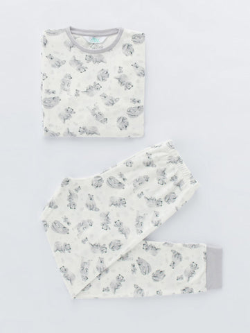 Penti Boy Printed Bear Thermal Pjama Set