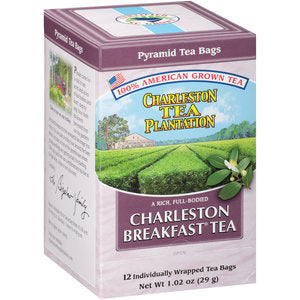 Charleston Tea Plantation Breakfast Tea Box 3/4 View