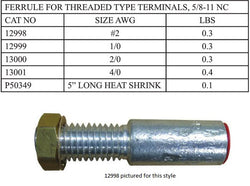 Hastings - Non Shrouded Threaded Ferrule -12998 - 13001