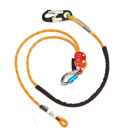 Jelco-  RAD Adjustable Rope Safety with Aluminum Snap Hook - 13801