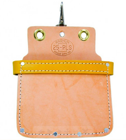 Bashlin - Leather Bolt and Nut Bag w/ Reinforced Top- 25PLS