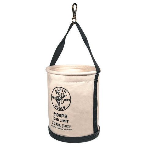 Klein - Wide-Opening Straight-Wall Bucket, Inside Pocket and Swivel Snap - 5109PS