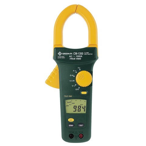 Greenlee True RMS Clamp Meter, 1000 Amp - CM1360