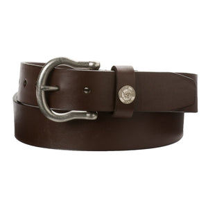 Men's Southern Tide Classic Leather Belt- Dark Brown