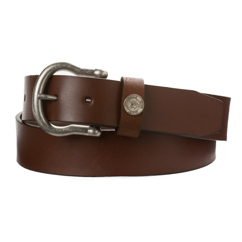 Men's Southern Tide Classic Leather Belt- Medium Brown