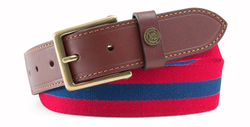 Men's Southern Tide Surcingle Belt- Portside/Yacht Blue