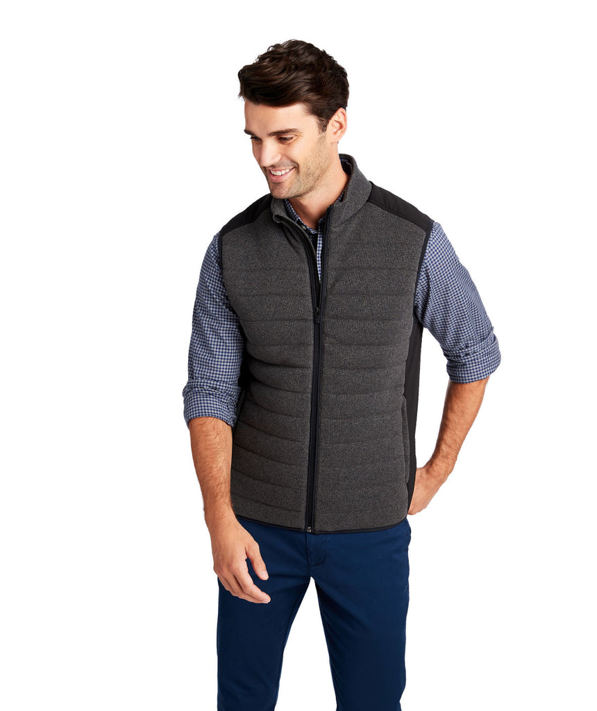Men's Vineyard Vines Performance Sweater Fleece Vest- Nocturne