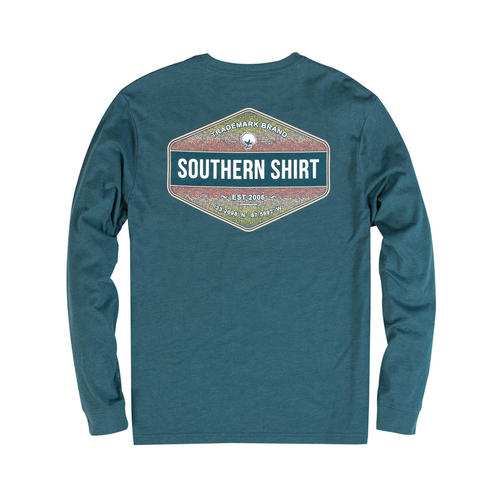 Southern Shirt Company Long Sleeve Rainbow Trout Tee- Legion Blue