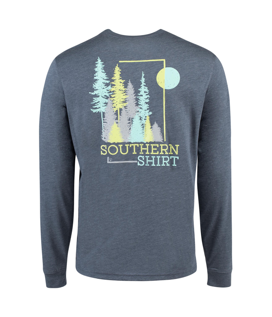 fd000f569777 Southern Shirt Company Long Sleeve Timber Creek Tee- Slate Blue ...