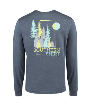 Southern Shirt Company Long Sleeve Timber Creek Tee- Slate Blue