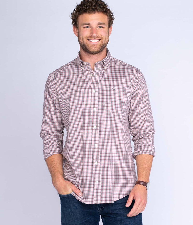 Men's Southern Shirt Company Cumberland Check- Chestnut
